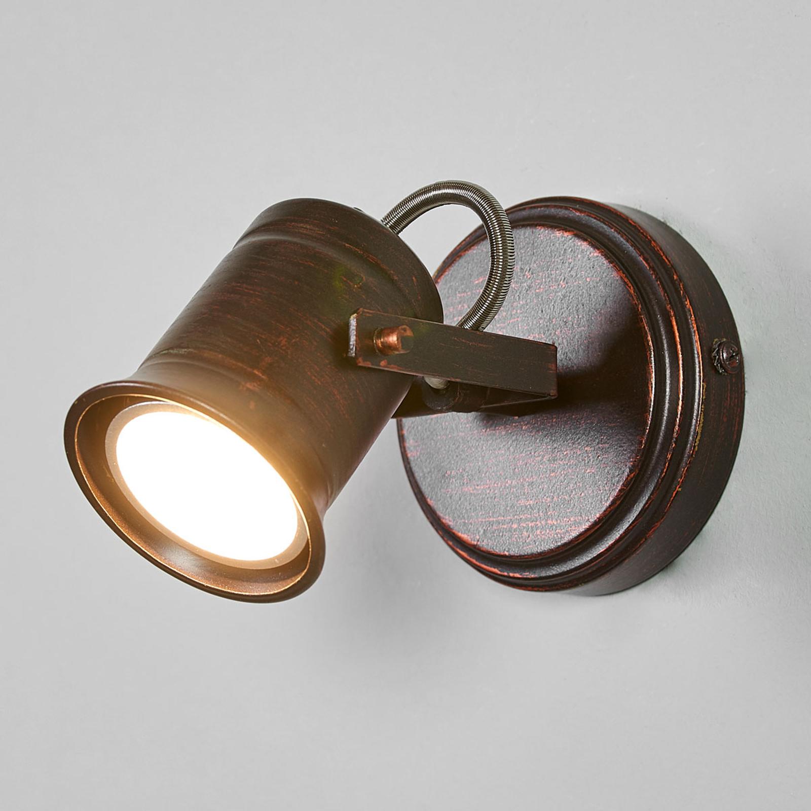 Hnědozlaté bodové osvětlení Cansu, GU10 LED