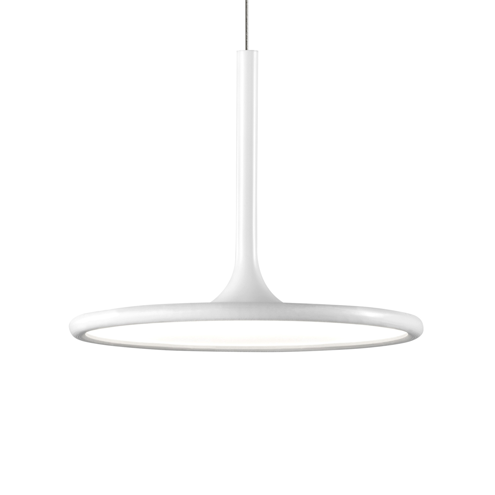 Grok Net LED-hængelmape i mat hvid, Ø 25 cm