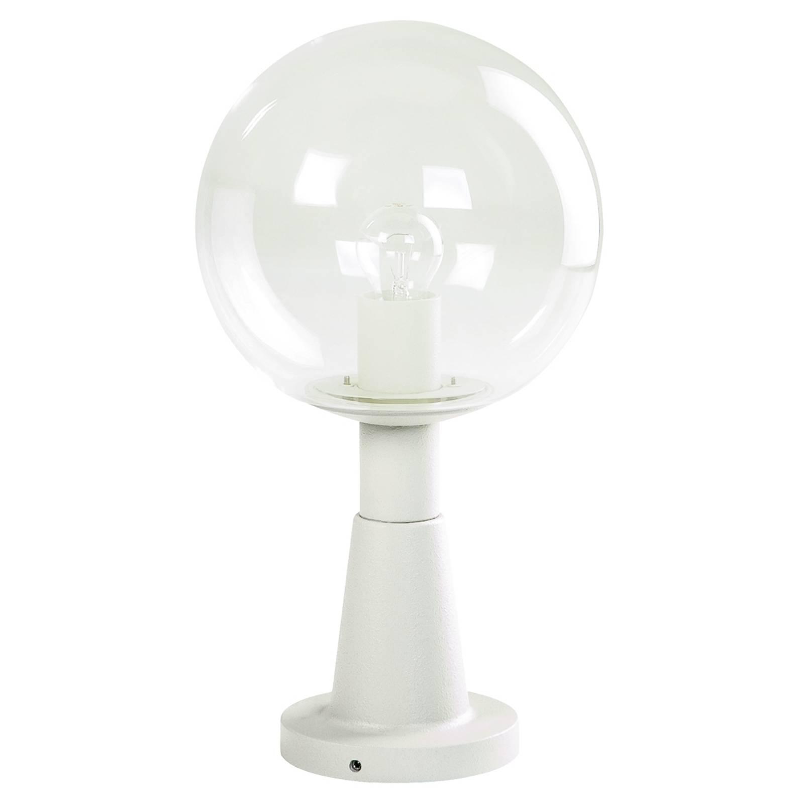 Luminaire pour socle en cristal blanc