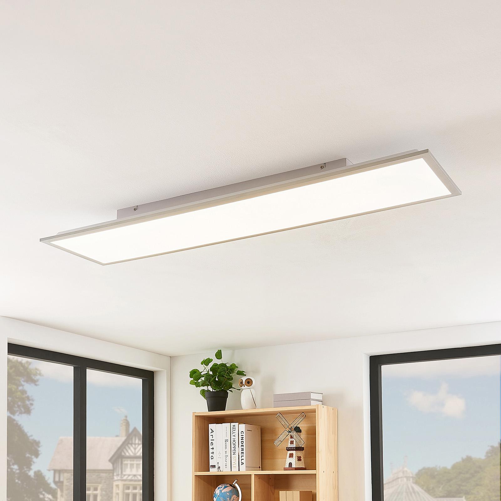 Lindby Stenley LED-panel, 4000K, 119 cm x 29 cm