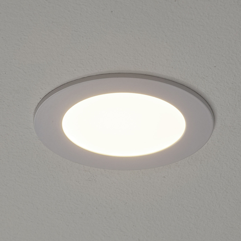 Valkoinen Fueva-Connect -LED-uppovalaisin