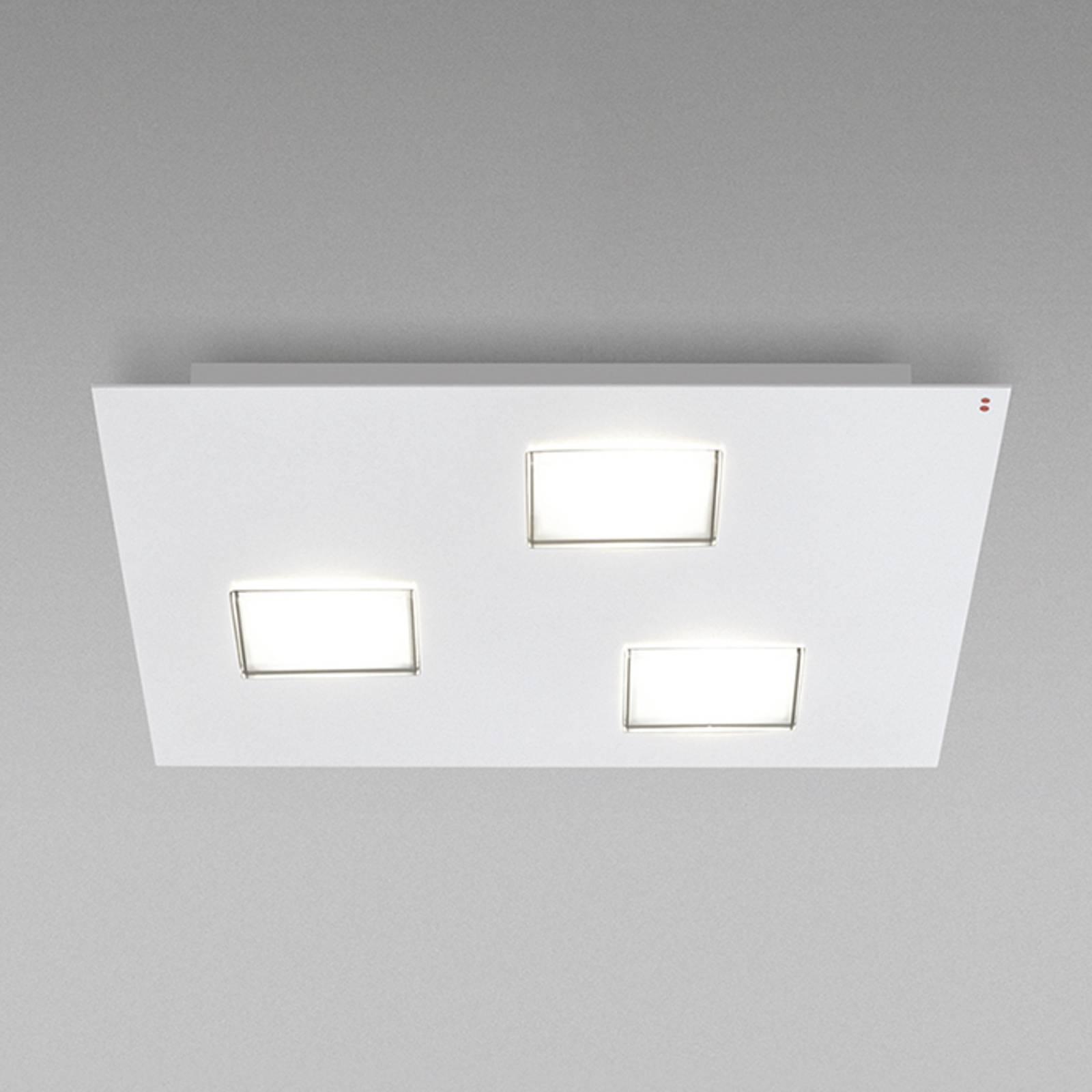 Quarter - LED plafondlamp in wit met 3 LED's