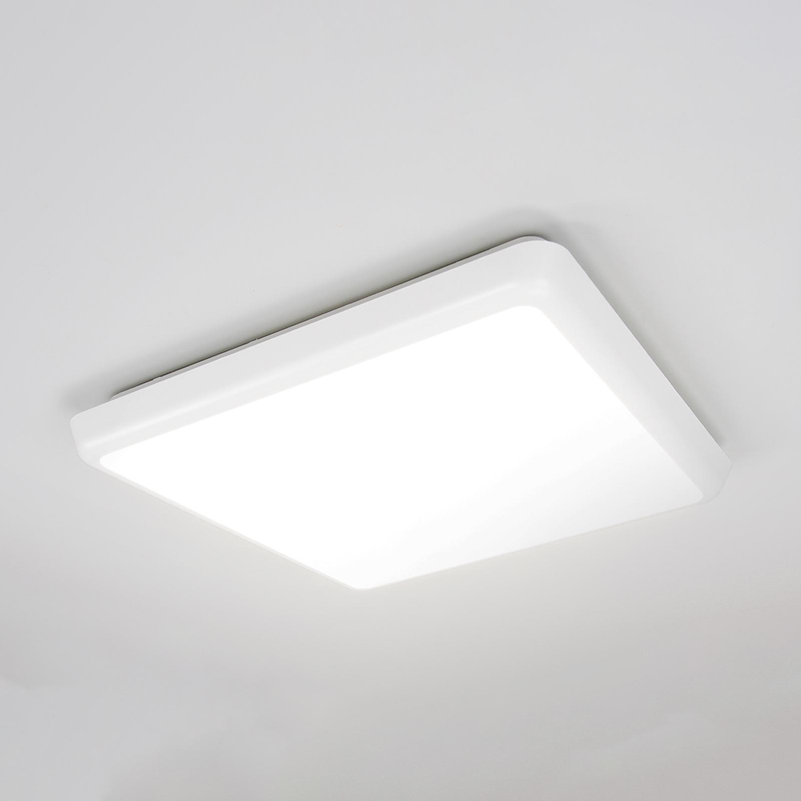 Prosta lampa sufitowa Augustin z LED, IP54
