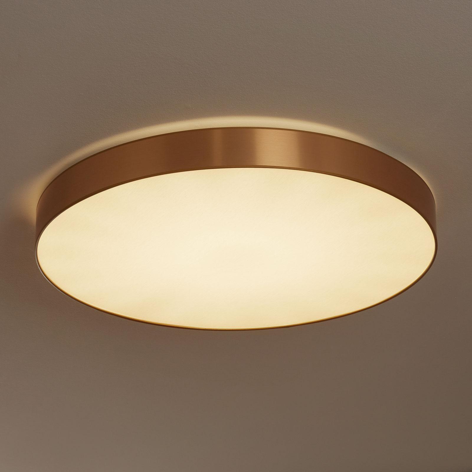 Aurelias taklampe dimbar 78 cm gullfarget