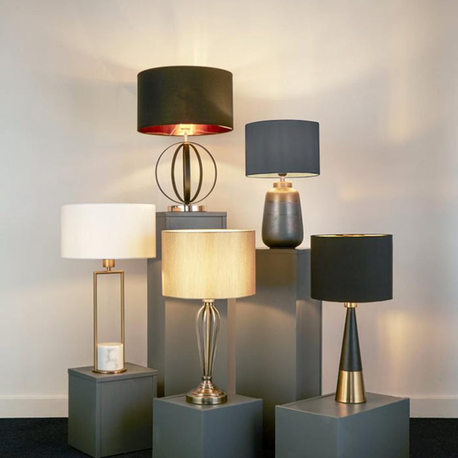 Tafellamp Pyramid, zwart-koper