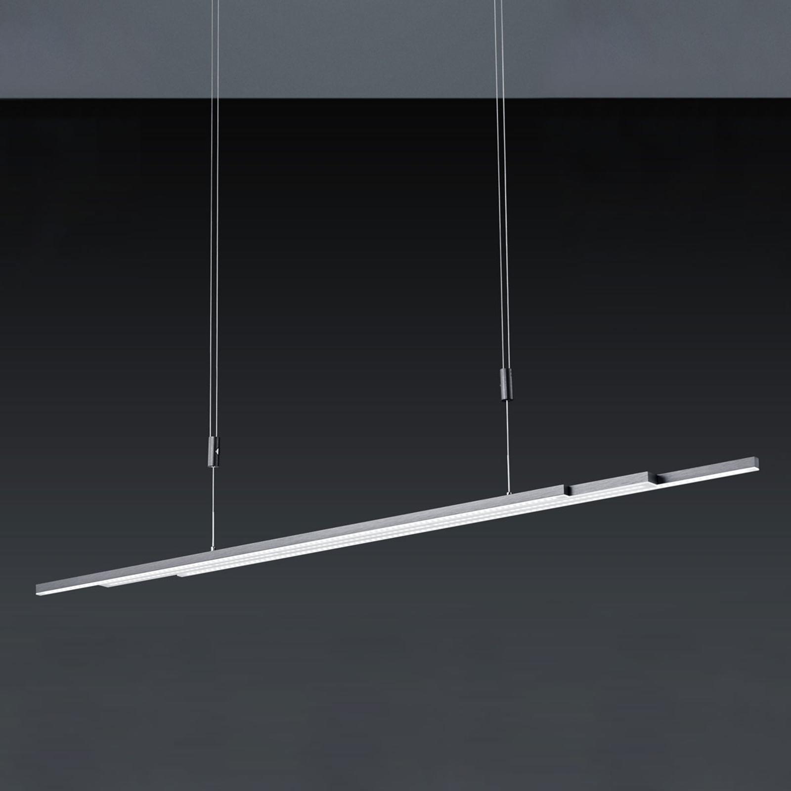 BANKAMP L-lightLINE LED-hanglamp, antraciet