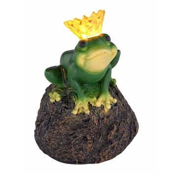 Solární LED lampa 33088 Žabí král na kameni