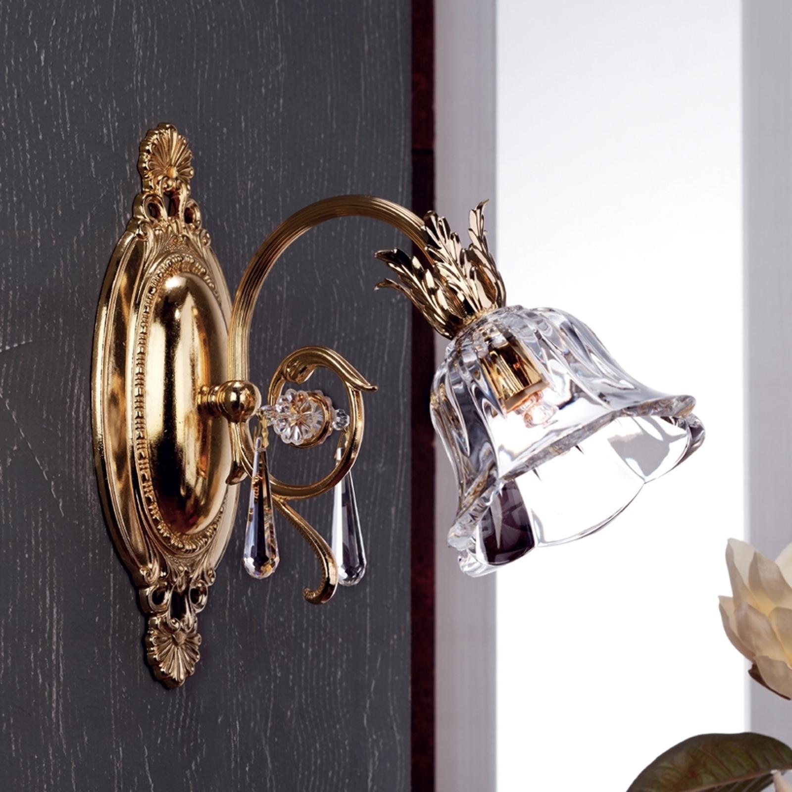 Lampa ścienna KAISA zdobiona 24-karatowym złotem