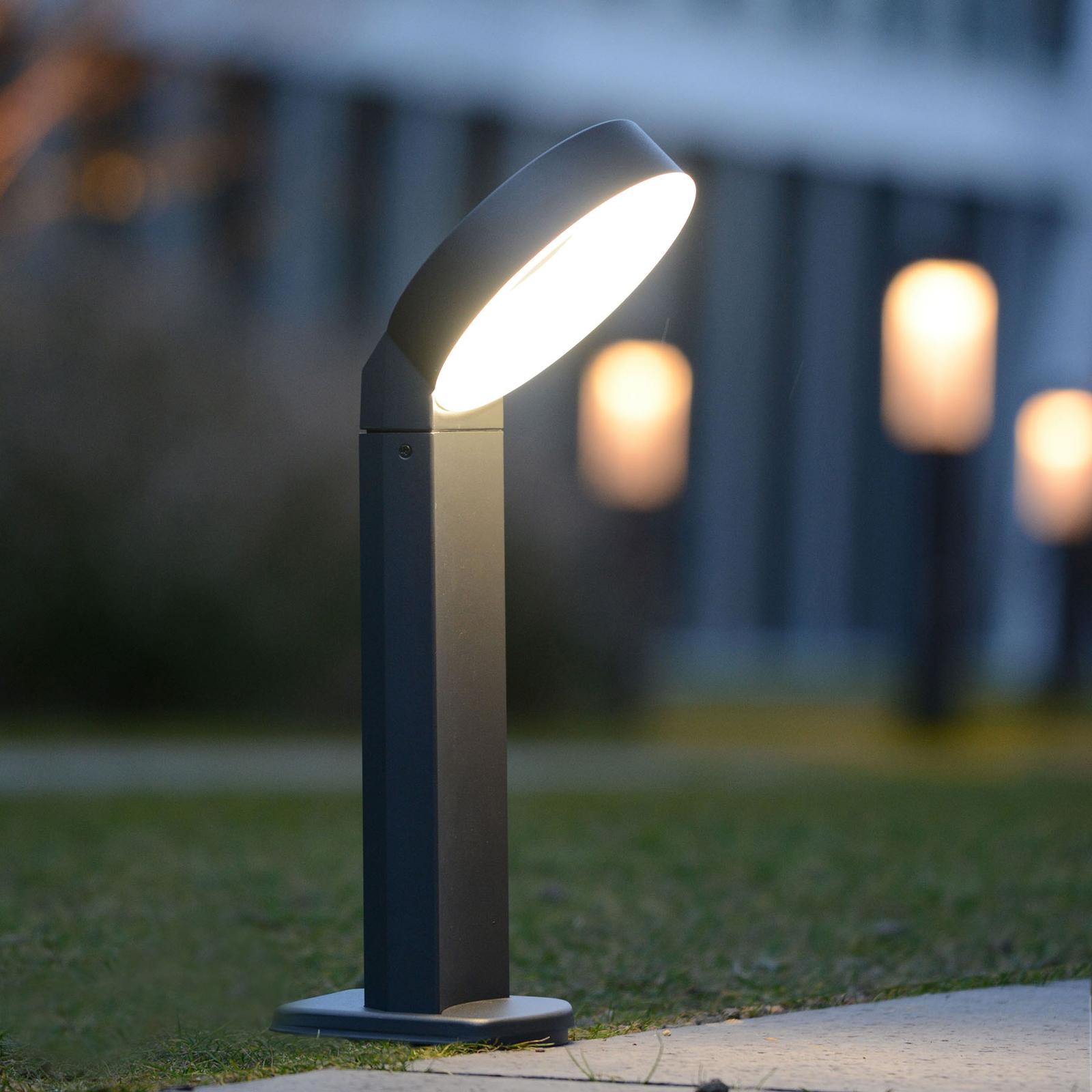 Lampa cokołowa LED Meridian pierścieniowa głowica