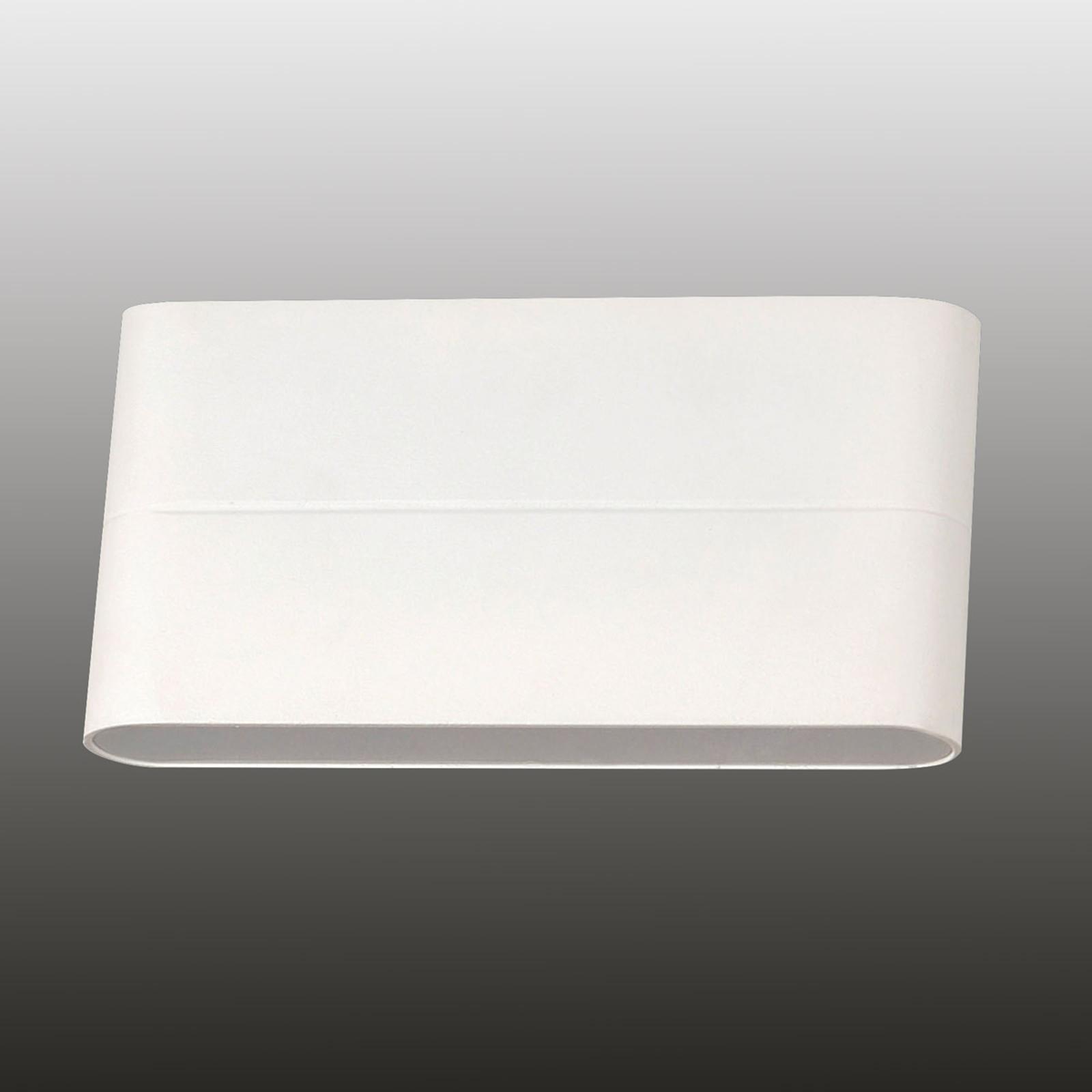 Casper – biała lampa ścienna LED na zewnątrz