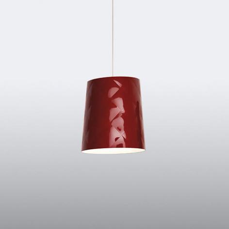 Kundalini New York závěsné světlo, Ø 33 cm červené