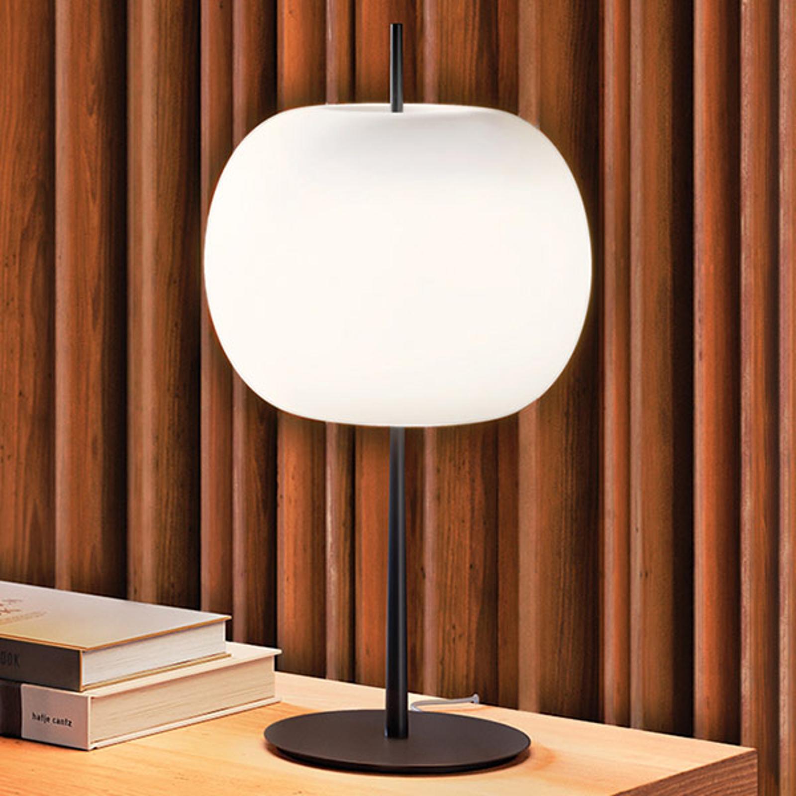 Kundalini Kushi XL lampe à poser noir/blanc