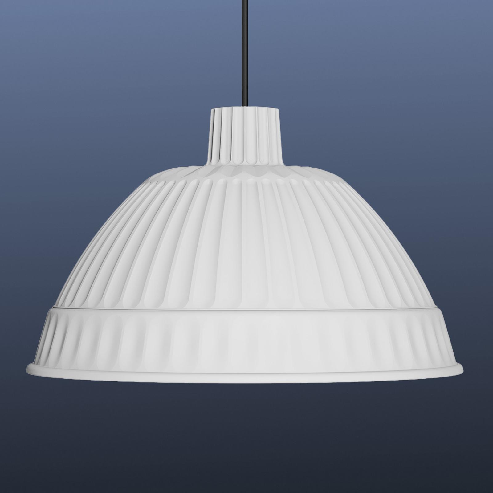 Biała designerska lampa wisząca Cloche