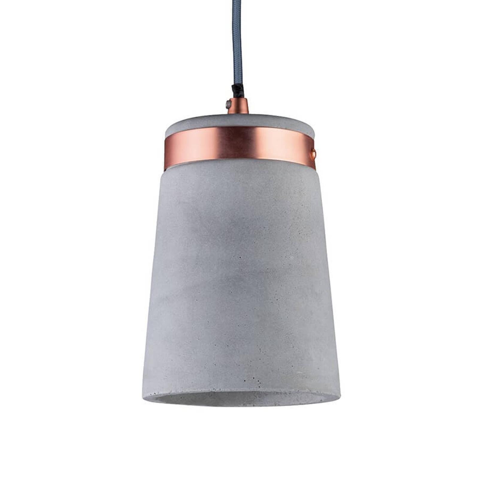 Modna betonowa lampa wisząca Stig