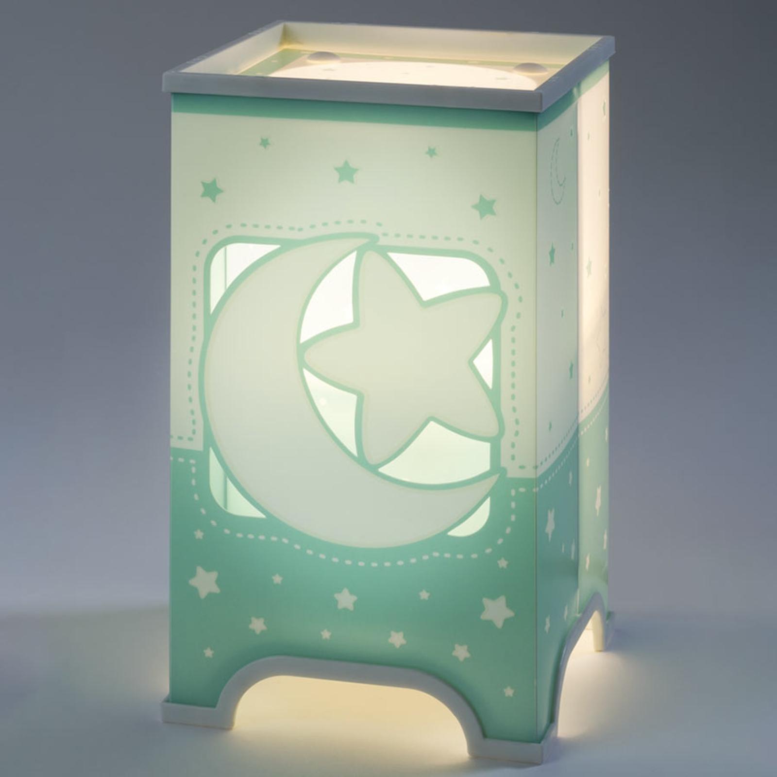 Mintgrüne LED-Tischleuchte Nachthimmel