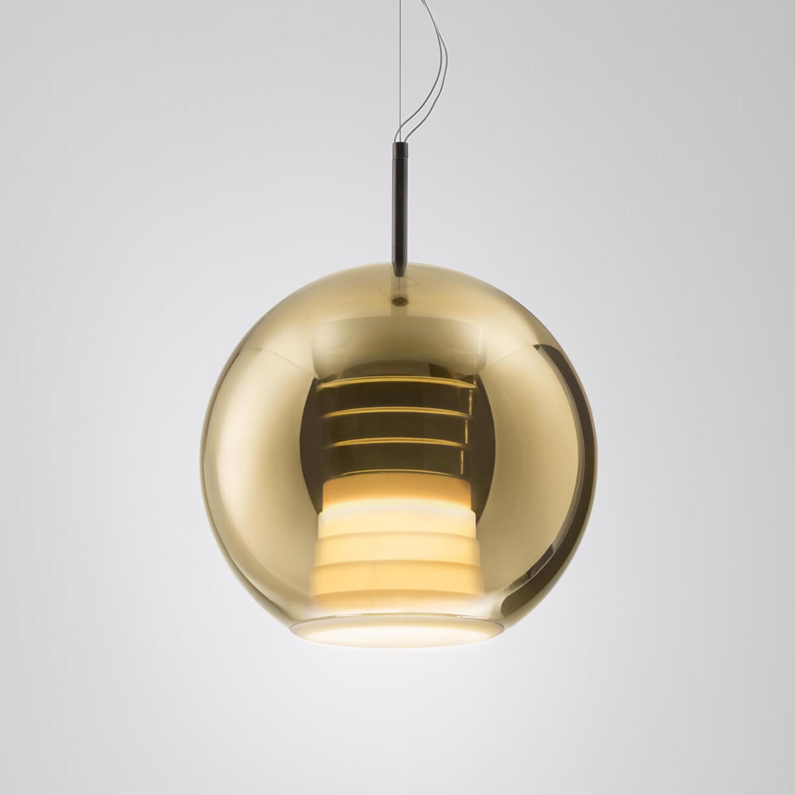 Fabbian Beluga Royal -LED-riippuvalo kulta 30cm