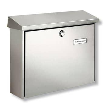 Amrum Edelstahl-Briefkasten mit Schutzlack