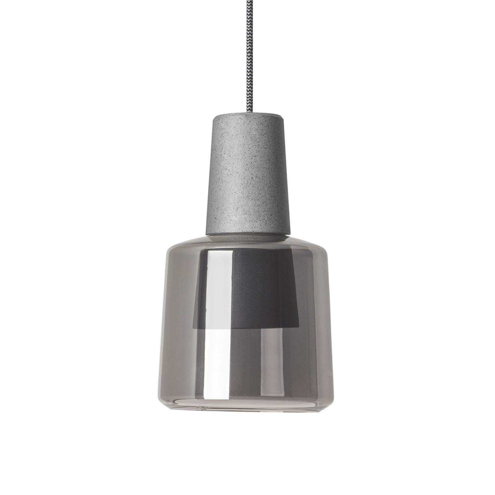 LEDS-C4 Khoi Surfaced hængelampe, røggrå/cement