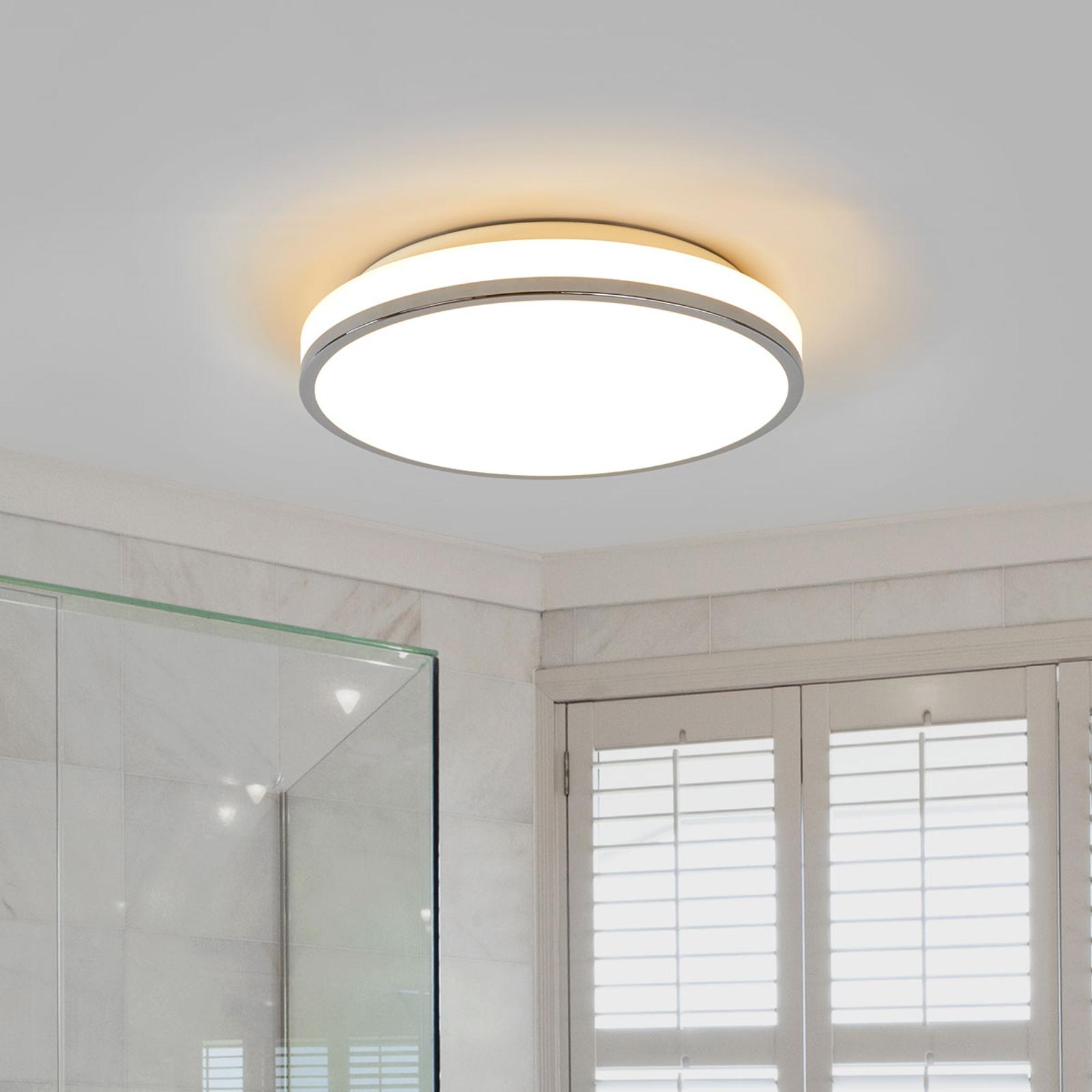 Lyss   LED Bad Deckenleuchte mit Chromrand