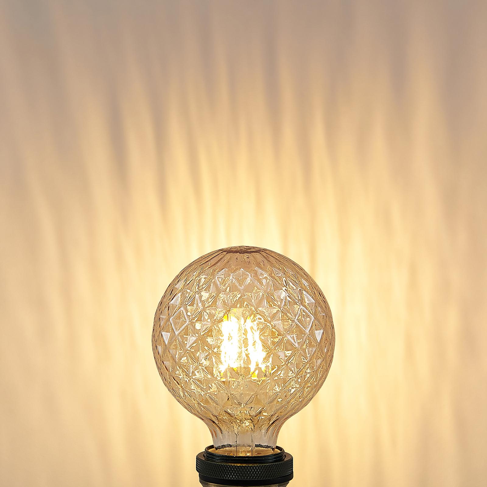 Lucande-LED-lamppu E27 G95 4W 2700K meripihka