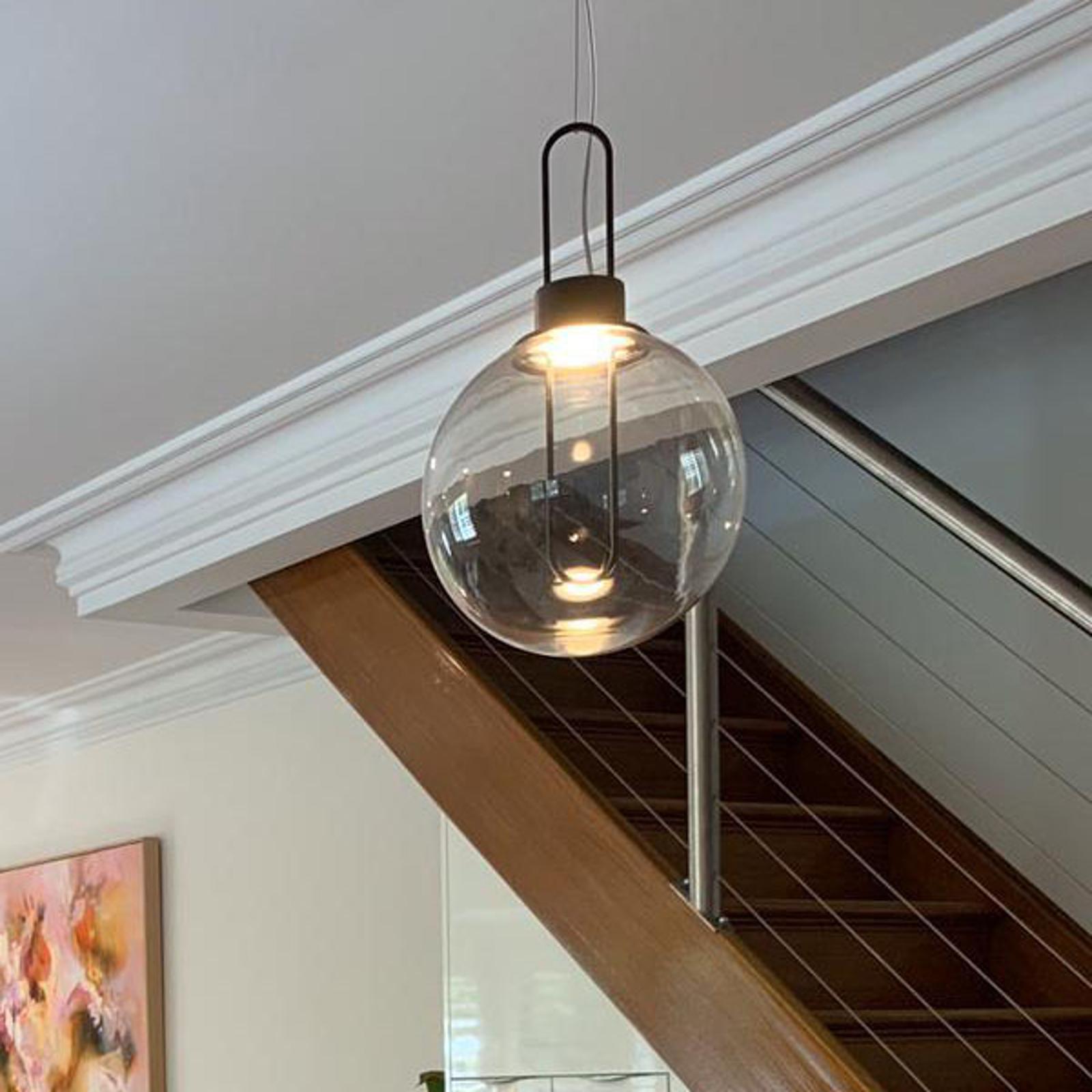 Modo Luce Orb LED-hængelampe, sort, Ø 25 cm