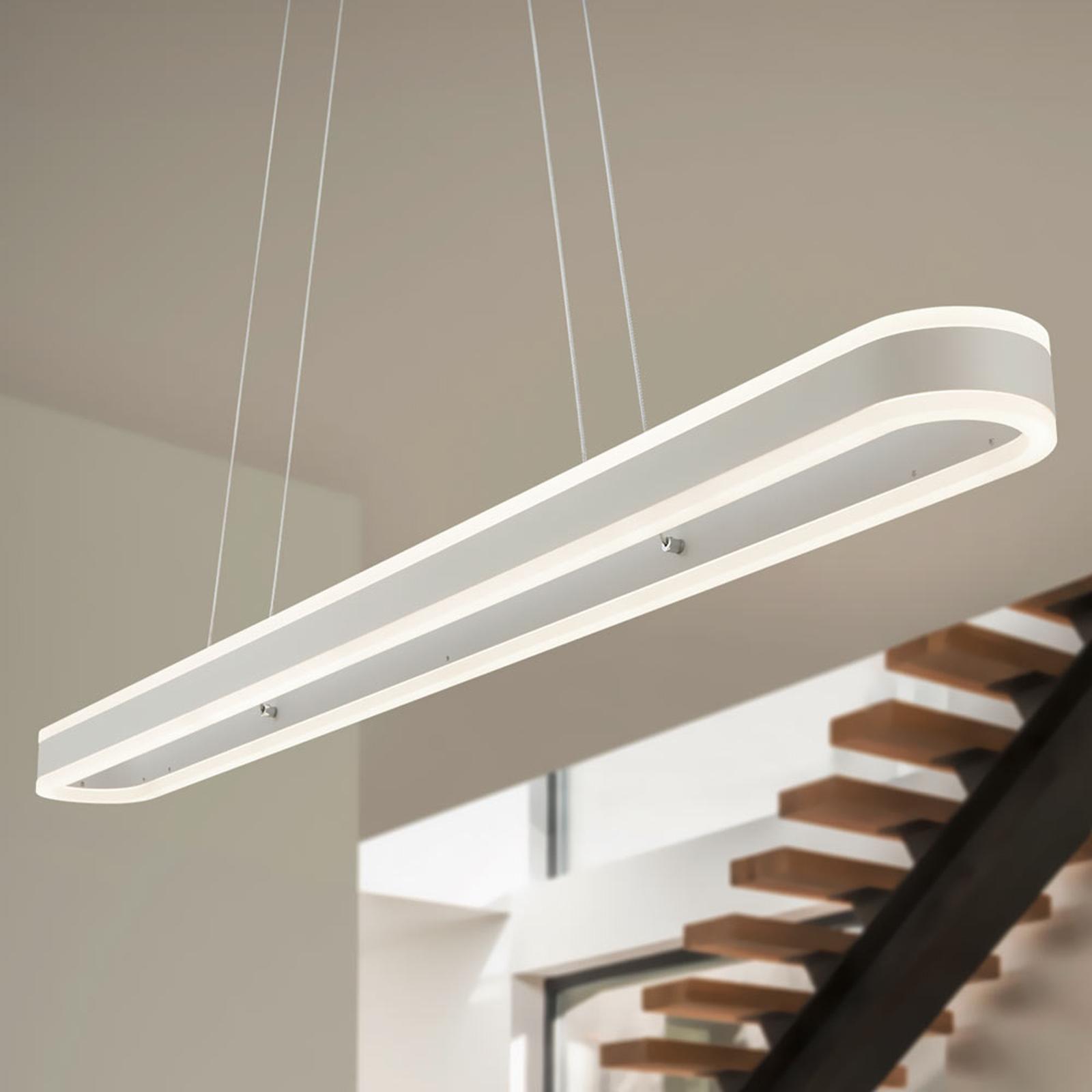 Helestra Liv – długa lampa wisząca LED, ściemniana