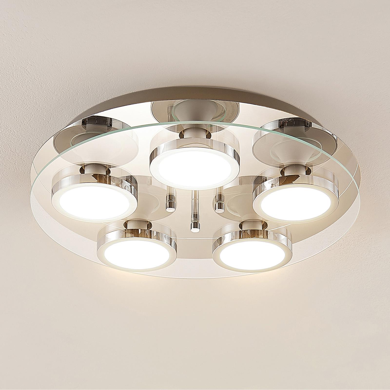Lindby Gabryl lampa sufitowa LED, 5-punktowa