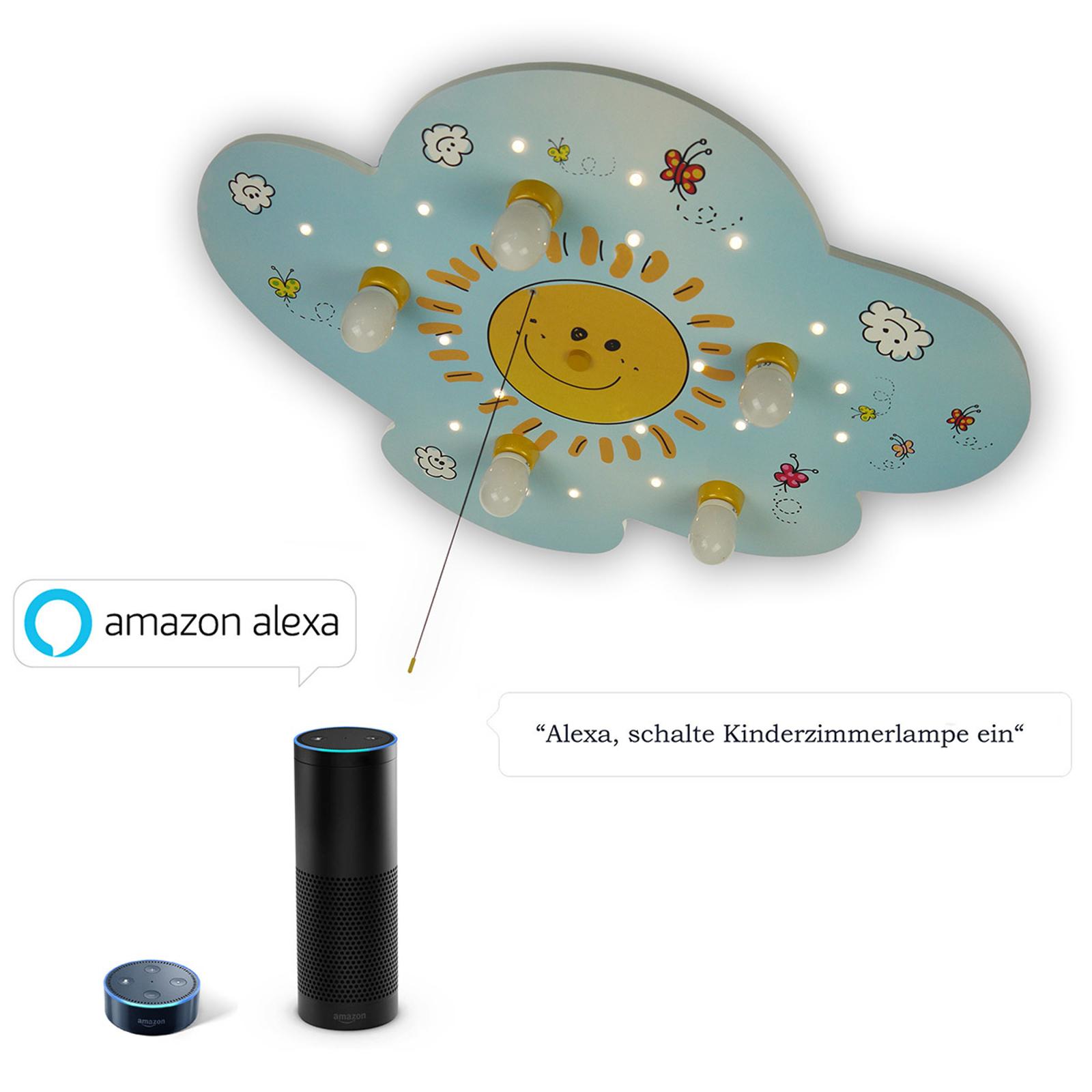 Plafonnier Sunny avec LED et module Alexa
