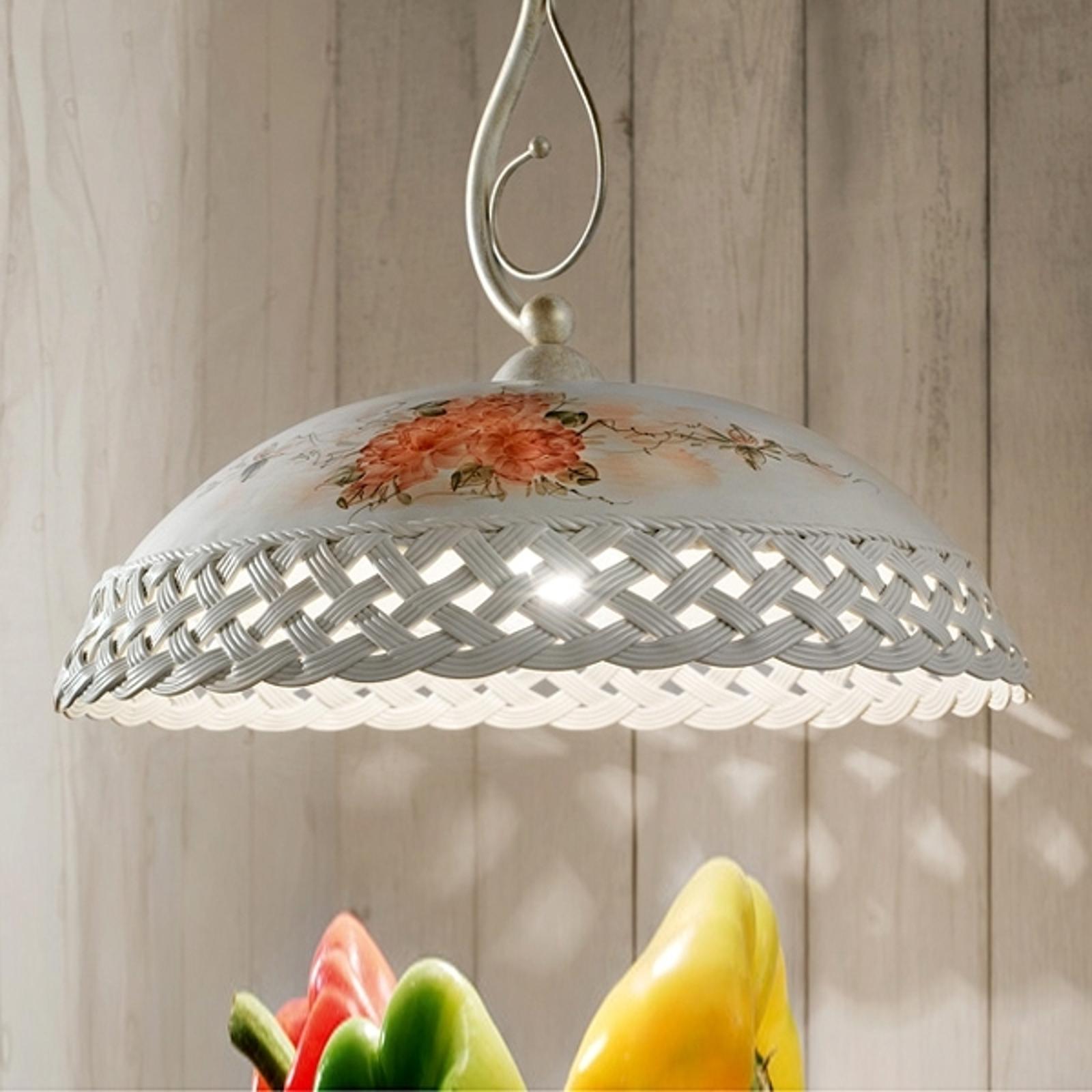 CESTA 1-lichts hanglamp in landhuisstijl