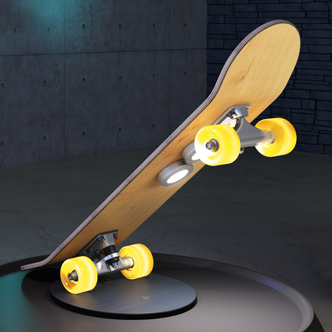 Skateboard bordlampe Light Cruiser med LED'er