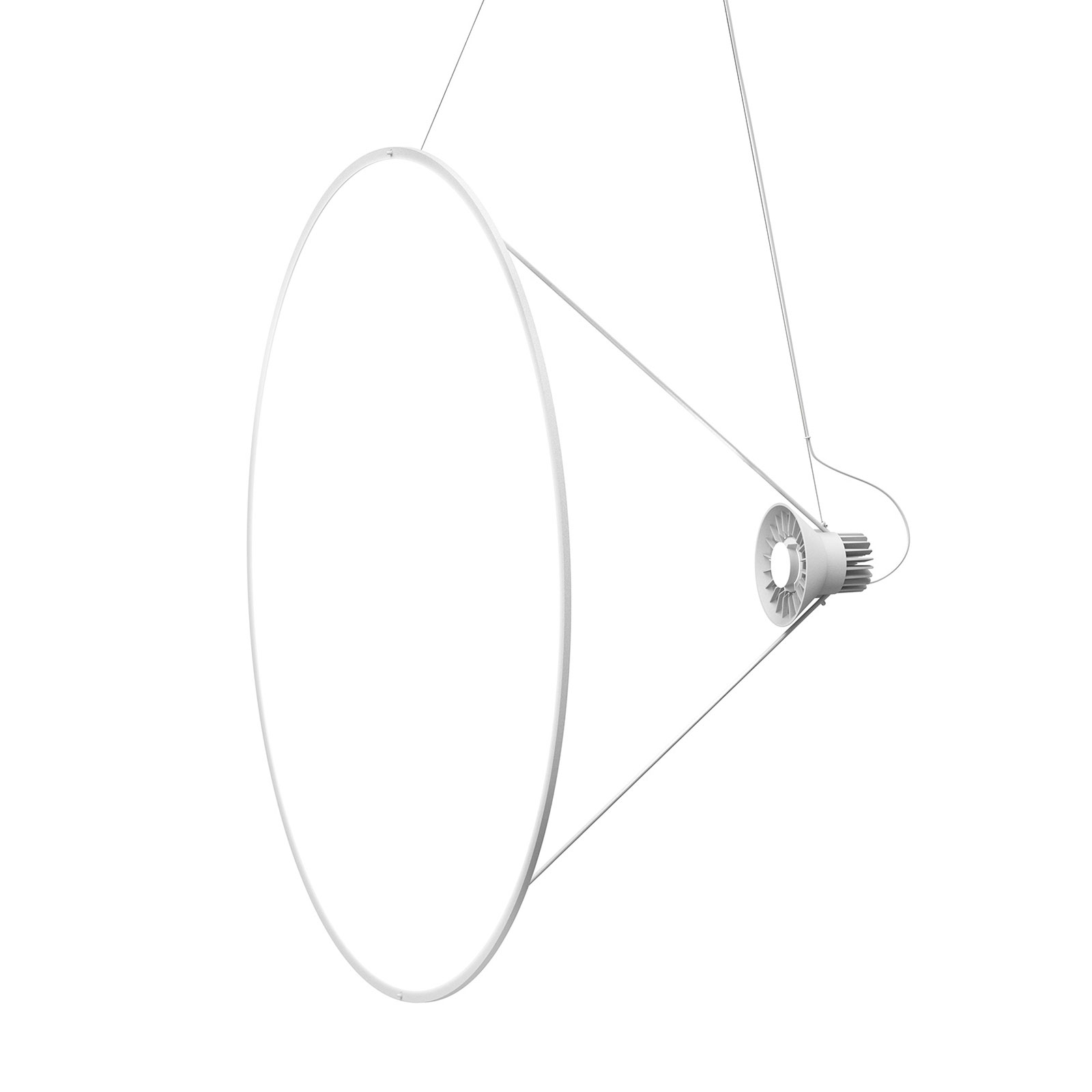 Luceplan Amisol suspension LED Ø 110cm blanc opale