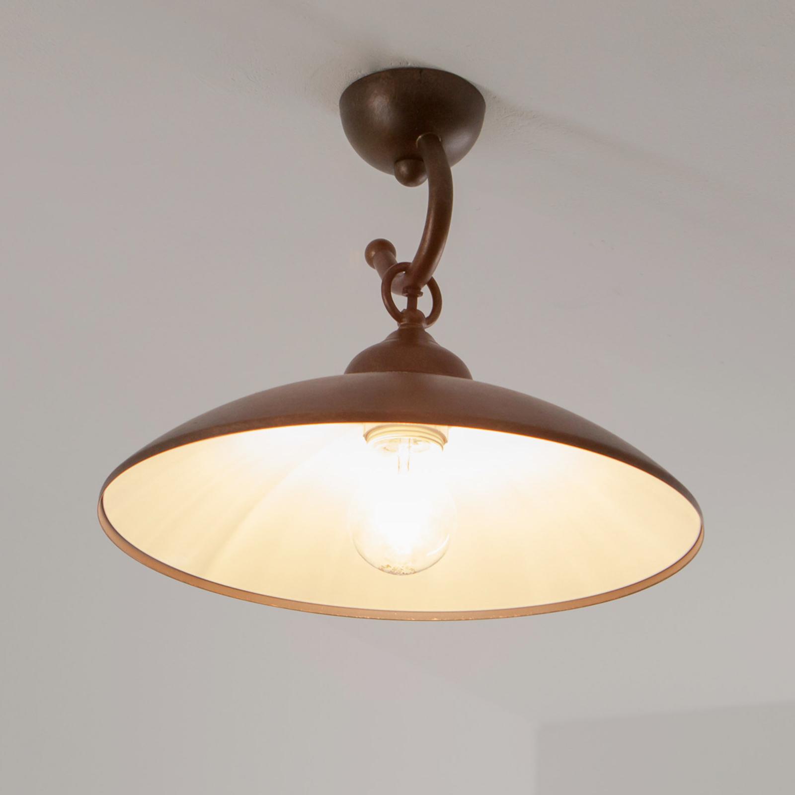 Rustikk Baja taklampe i brun