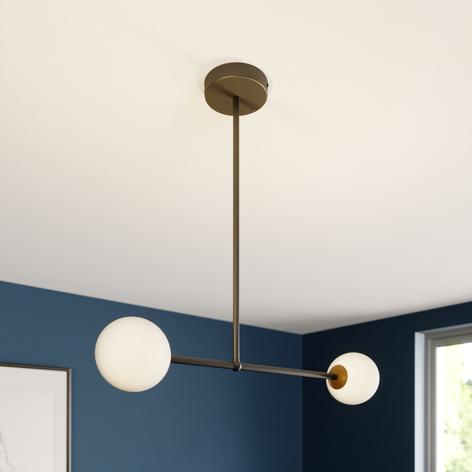 Lámpara colgante Gama 2, 2 luces, negro