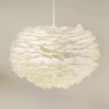 Gåsefjer pendellampe Eos medium, hvid