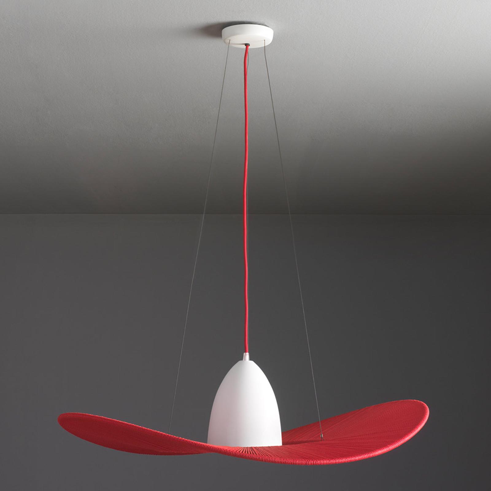 PAMELA - pleciona lampa wisząca, czerwona