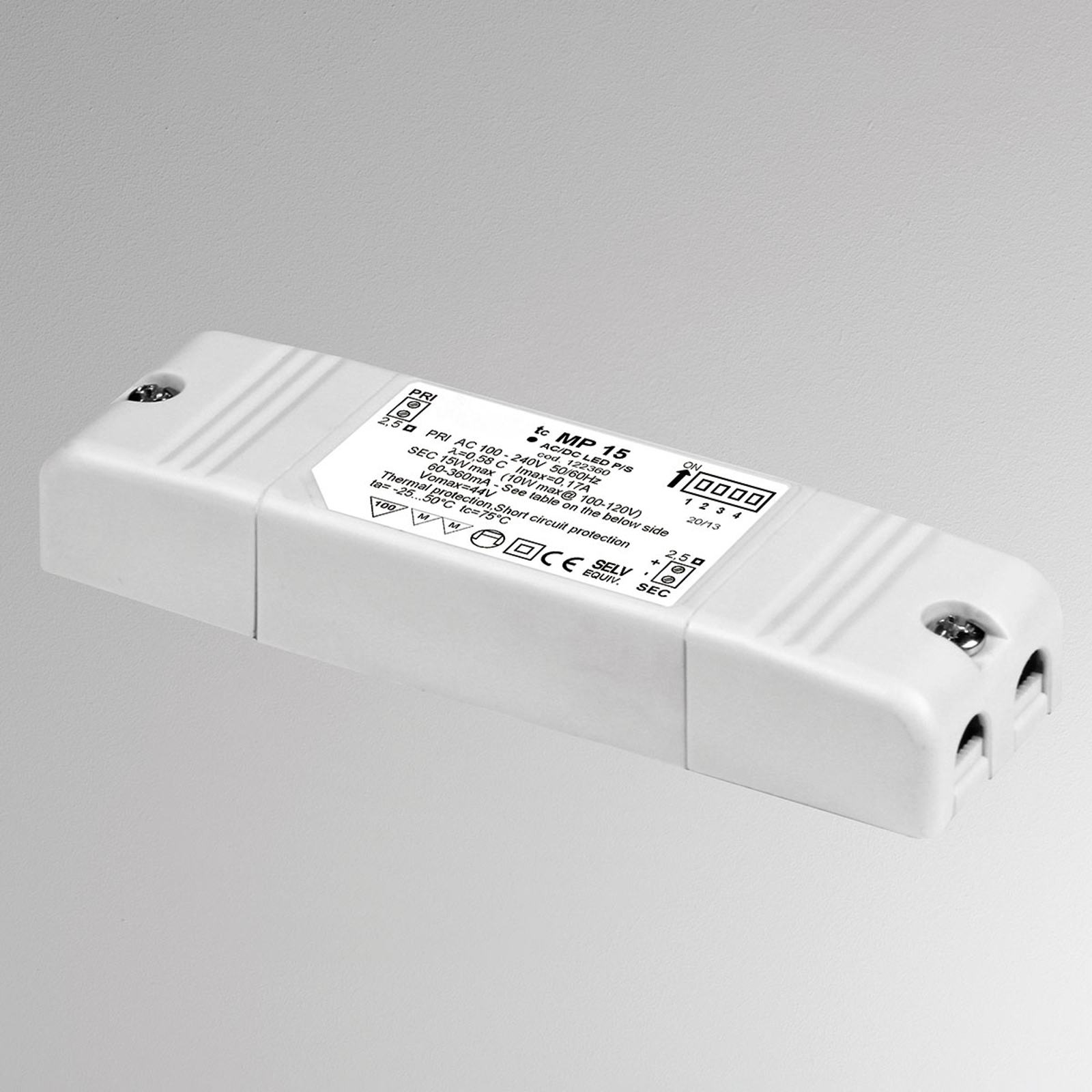 MP15 LED-konverter, justerbar, ikke dimbar