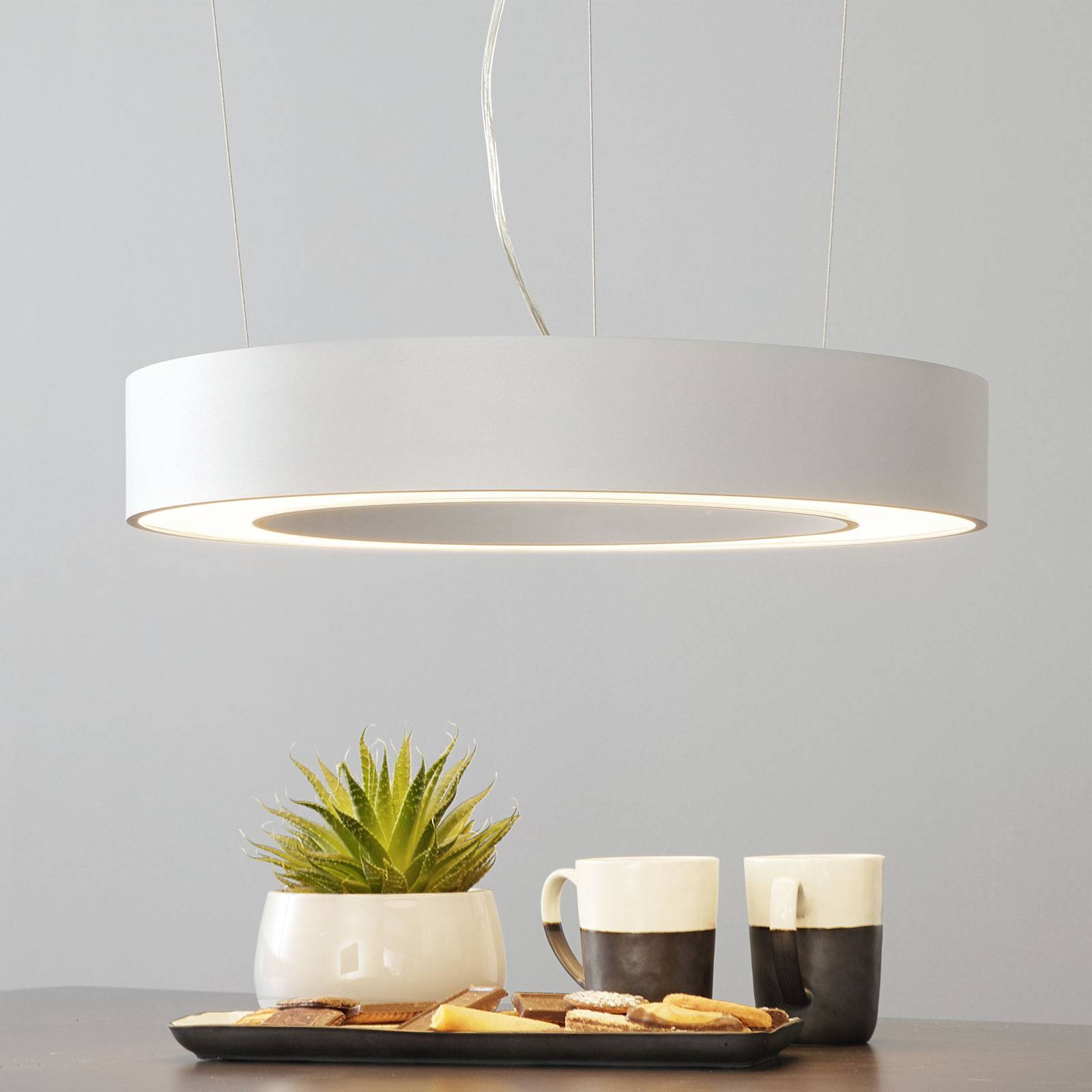 Arcchio Pietro LED hanglamp zilver 50cm 30W