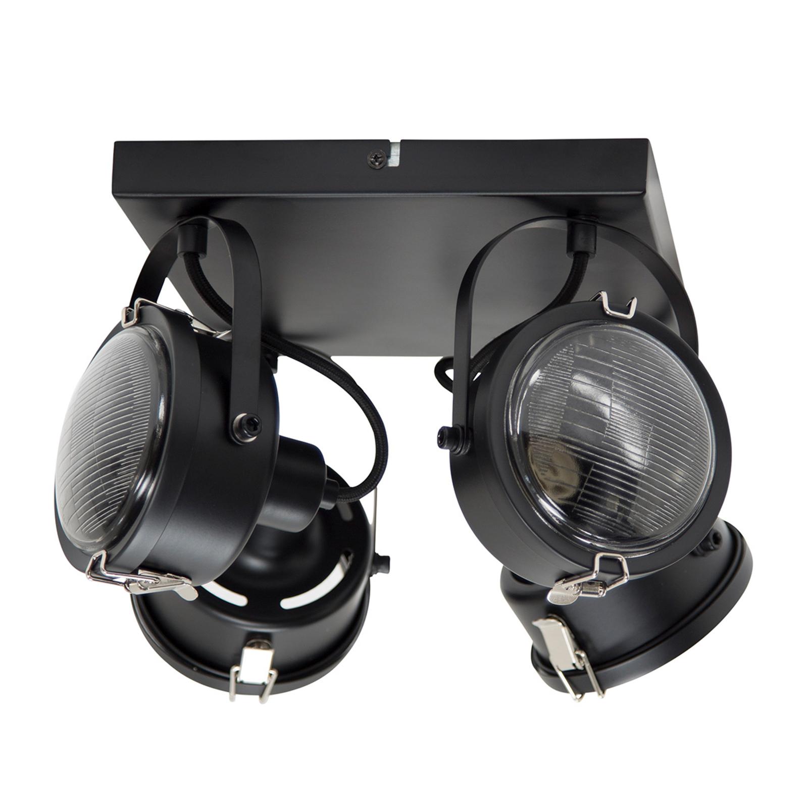 Kwadratowa lampa sufitowa Satellite czarna