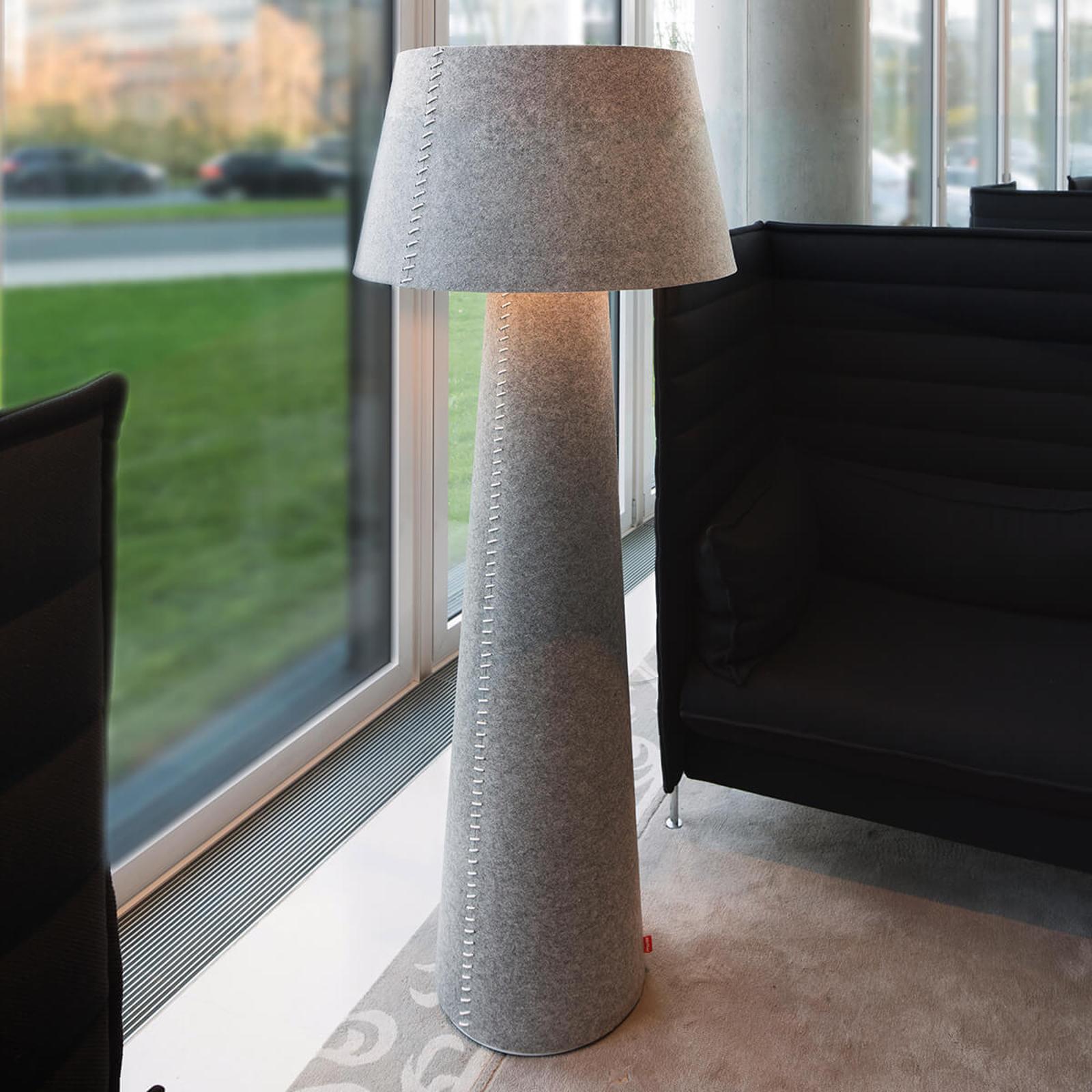 Lampadaire LED Alice XL en feutre gris