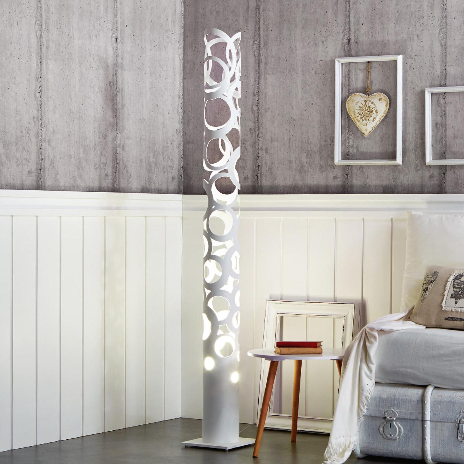 Biała stylowa lampa stojąca THOR