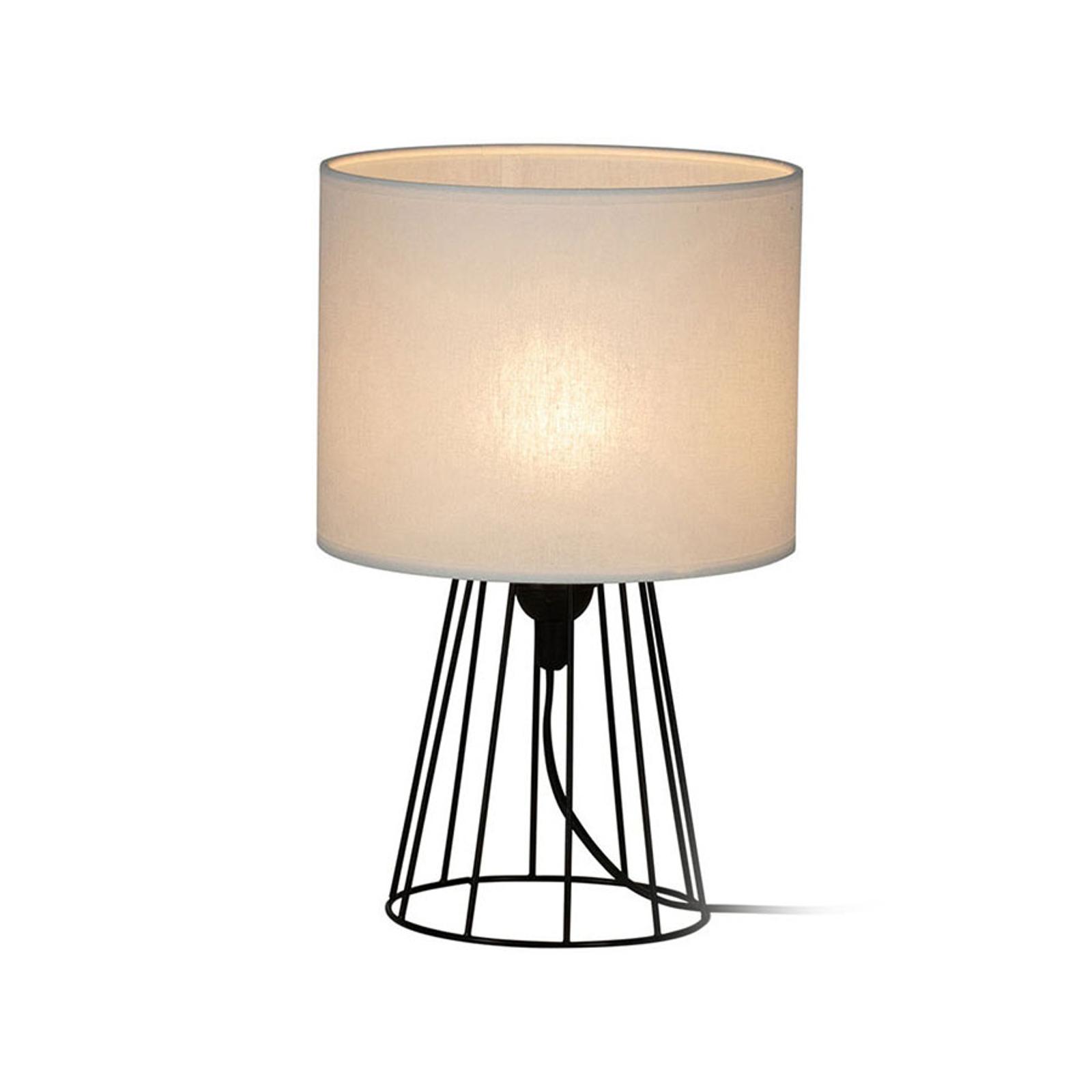 Lámpara de mesa Valene, pantalla textil alto 32 cm