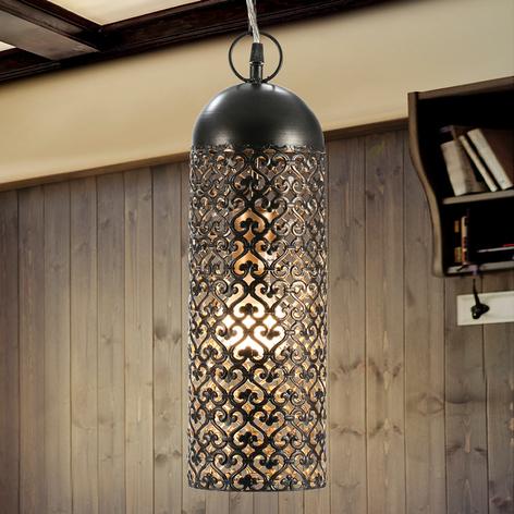 Jamila – lampa wisząca LED z tłoczonego metalu