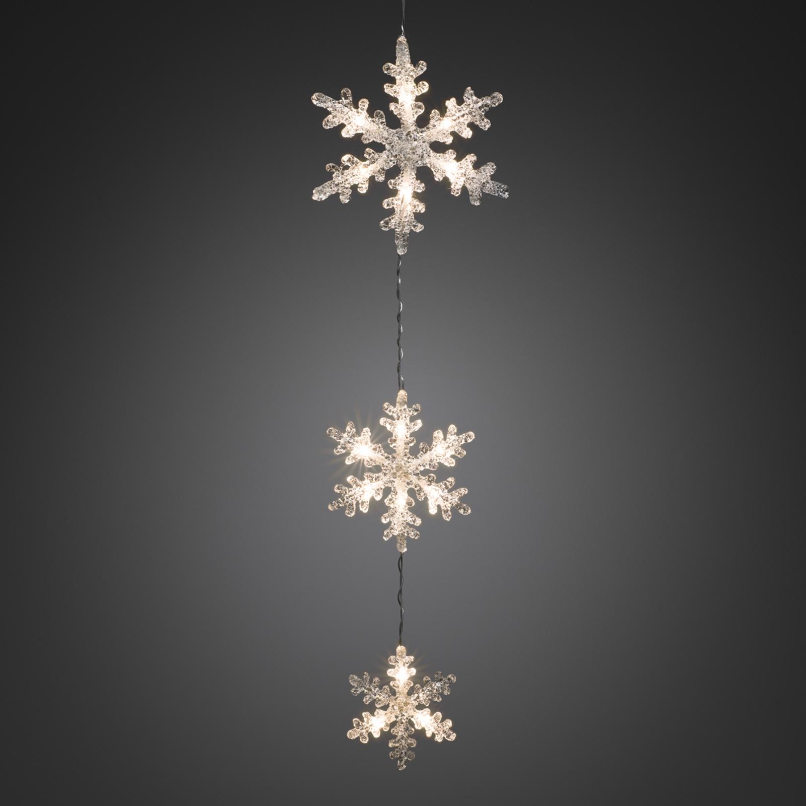 LED-Lichterkette Schneeflocken