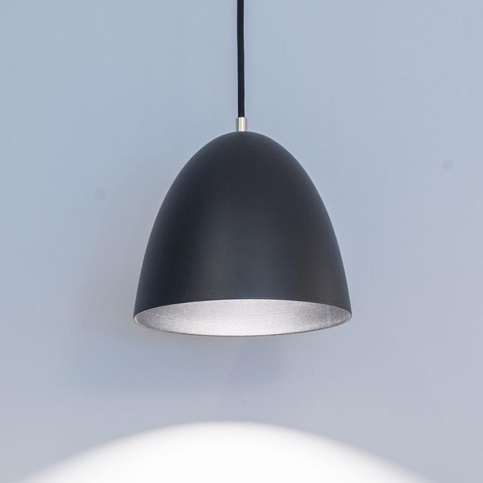Eas LED-hengelampe, Ø 24 cm, 3000 K, svart