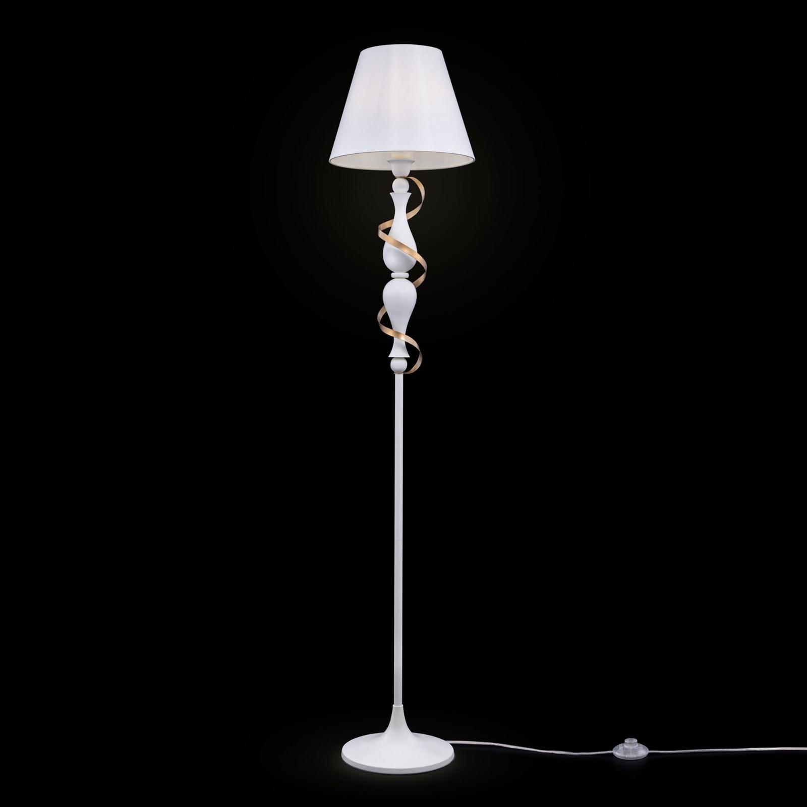 Intreccio - vloerlamp met goudkleurig detail