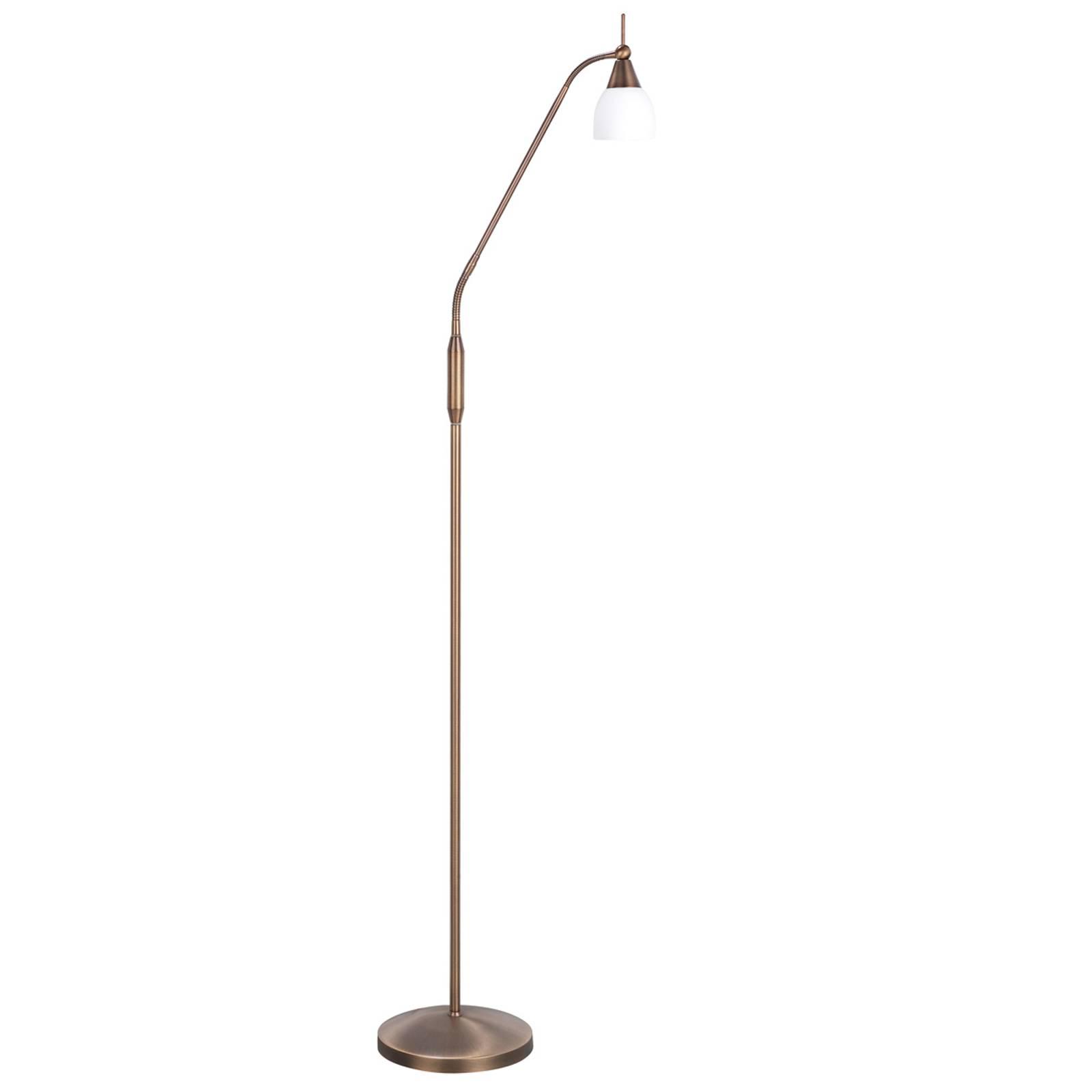 Bronzen vloerlamp Touchy met 3-voudige schakelaar