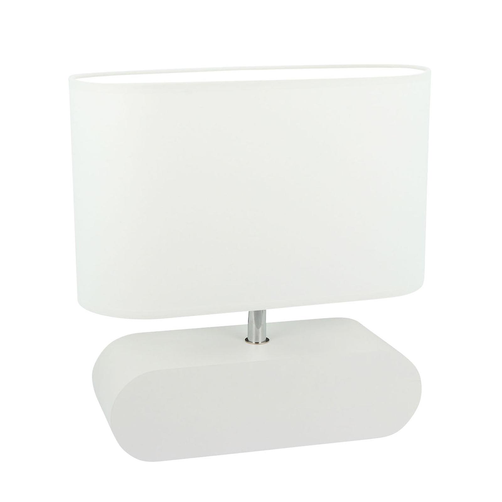 Tafellamp Marinna, voet wit, kap wit