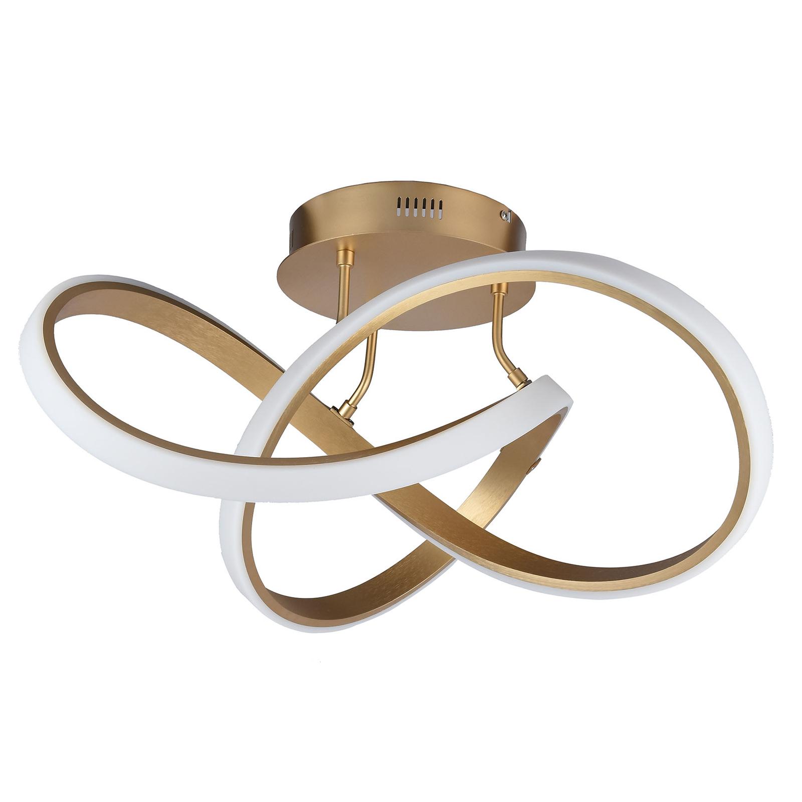 Plafoniera LED Indigo, 1 luce, oro satinato