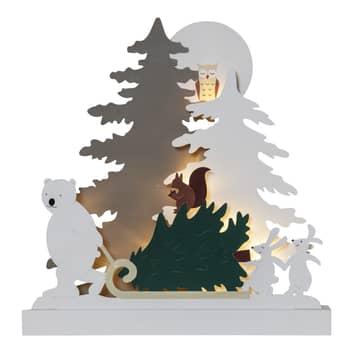 LED-dekorbelysning Forest Friends björn med släde