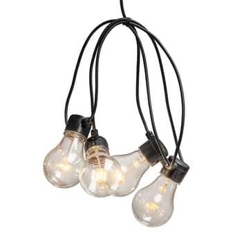 Cadena luces Biergarten 10 bombillas ámbar claro